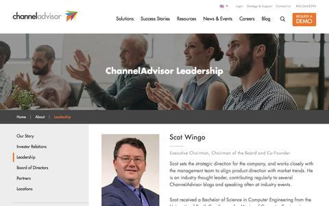 Screenshot of Team Page channeladvisor.com - E-Commerce Leaders: ChannelAdvisor Executives & Board of Directors - captured May 18, 2017