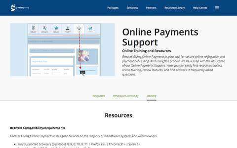 Online Payments - Support Center | Greater Giving - Greater Giving