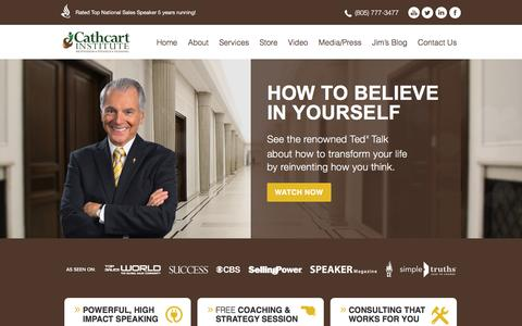 Screenshot of Home Page cathcart.com - Jim Cathcart | Cathcart Insitute | Keynote Speaker - captured Jan. 26, 2016
