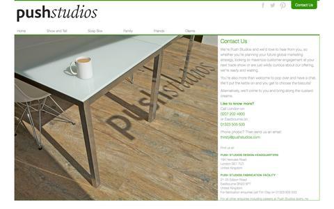 Screenshot of Contact Page pushstudios.com - Push Studios | Contact Us - captured Sept. 30, 2014
