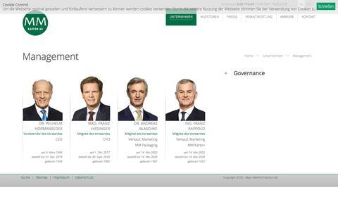 Screenshot of Team Page mayr-melnhof.com - Management: Mayr-Melnhof Karton AG - captured Sept. 20, 2018