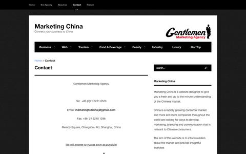 Contact - Marketing China