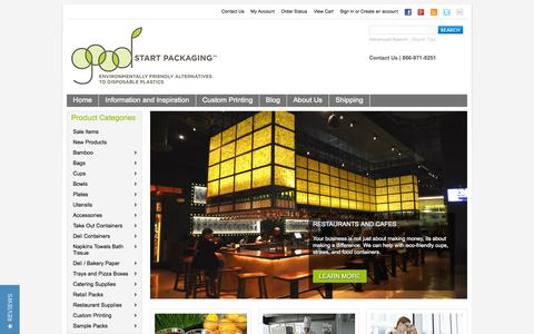 Screenshot of Home Page goodstartpackaging.com - Eco-Friendly Alternatives to Disposable Plastic - captured Sept. 30, 2014