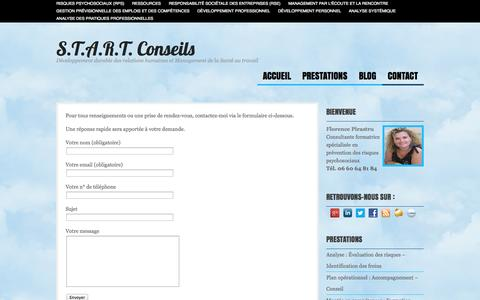 Screenshot of Contact Page start-conseils-rps.fr - Contact  |  S.T.A.R.T. Conseils - captured Sept. 30, 2014