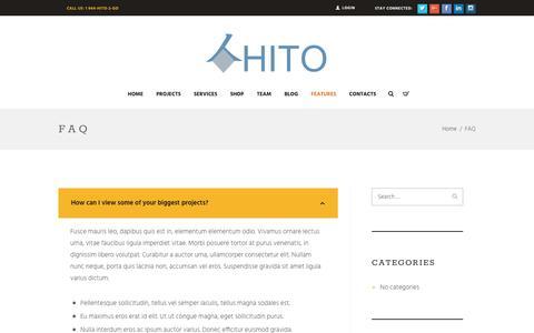 Screenshot of FAQ Page Site Map Page hito.management - FAQ – HITO - captured May 1, 2017
