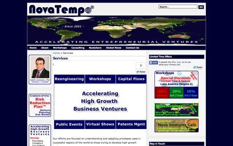 Screenshot of Home Page Services Page novatempo.com - NovaTempo ® - captured Sept. 30, 2014