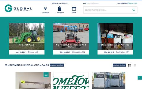 Screenshot of Home Page globalauctionguide.com - Global Auction Guide- Internet's leading resource for auction sale bills online - captured May 18, 2017
