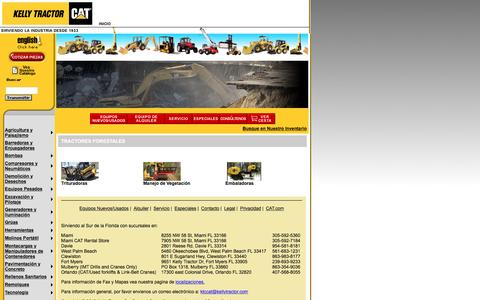 Screenshot of Landing Page kellytractor.com - Tractores Forestales Supertrak en Kelly Tractor - captured Aug. 12, 2016