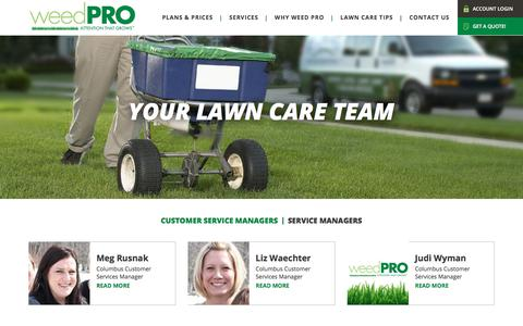 Screenshot of Team Page weed-pro.com - Meet Your Lawn Care Team - captured March 1, 2018