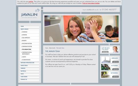 Screenshot of Team Page javalin.co.uk - Javalin > Team - captured Oct. 6, 2014
