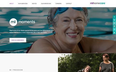Screenshot of Case Studies Page mihomecare.com - Case Studies - MiHomecare - captured Sept. 20, 2018