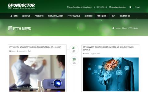 Screenshot of Press Page gpondoctor.com - FTTH News – Gpondoctor - captured May 13, 2017