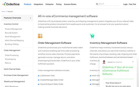 Screenshot of Products Page orderhive.com - Inventory Management System, Features - Orderhive - captured Dec. 10, 2018