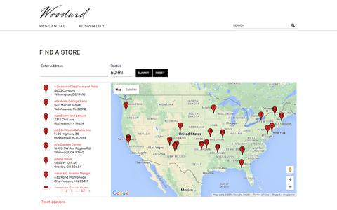 Screenshot of Locations Page woodard-furniture.com - Where to buy / Woodard Furniture  - Woodard Furniture - captured Jan. 11, 2016