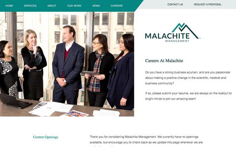 Screenshot of Jobs Page malachite-mgmt.com - Work at an Association Management Company | Malachite - captured Oct. 5, 2017