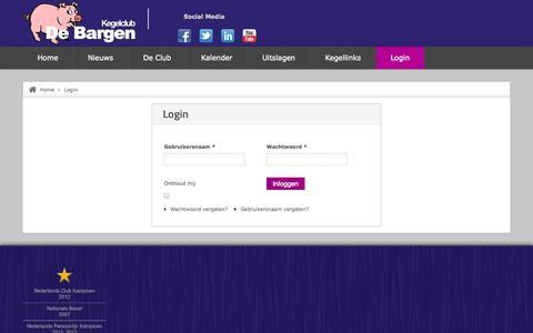 Screenshot of Login Page bargen.nl - De Bargen - Login - captured Oct. 6, 2014