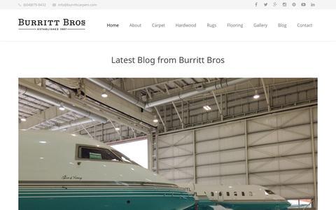 Screenshot of Blog burrittfloors.com - Latest Blog from Burritt Bros - captured Oct. 5, 2014