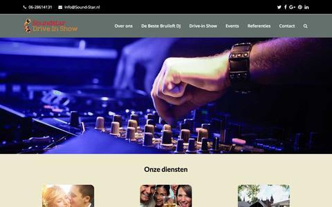 Screenshot of Home Page sound-star.nl - Soundstar Drive in Show - DJ's boeken & inhuren - captured Oct. 23, 2017