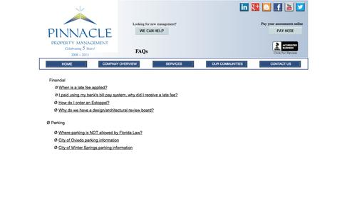 Screenshot of FAQ Page ppmorlando.com - FAQs - captured Oct. 2, 2014