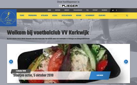 Screenshot of Home Page vvkerkwijk.nl - Home - - captured Oct. 18, 2018
