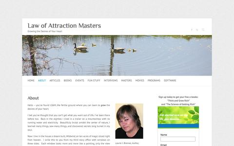 Screenshot of About Page law-of-attraction-masters.com - About | Law of Attraction Masters - captured June 13, 2016