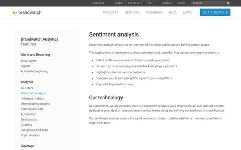 Sentiment analysis | Brandwatch
