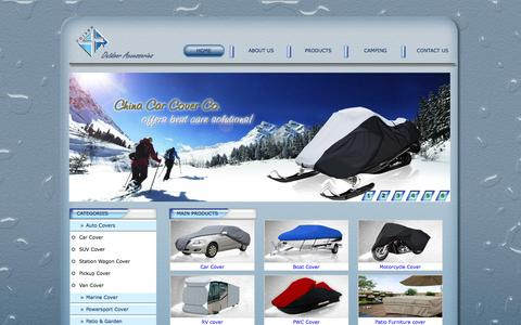 Screenshot of Home Page chinacarcovers.com - Waterproof uv resistant china boat cover supplier,wholesaler,exporter - Xiamen Forsee Outdoor Accessories Co., Ltd. - captured Oct. 7, 2014