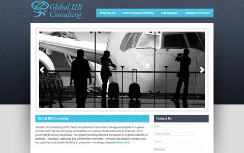 Screenshot of Home Page global-hr.info - Global HR Consulting — Managing People in a Global Environment - captured Oct. 2, 2014