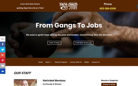 Screenshot of Team Page fromgangs2jobs.com - Prison Work Skills Phoenix | From Gangs To Jobs | Teaching | Life Skills - captured Nov. 14, 2018