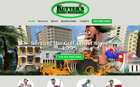 Screenshot of Home Page kutters.net - Kutter's Grounds Maintenance, Inc. | Lawn Care | Landscape Design | Irrigation - captured Nov. 15, 2018