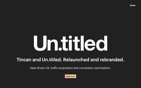 Screenshot of Blog titled.co.uk - Latest News, Insights & Updates   Un.titled - captured Dec. 21, 2018