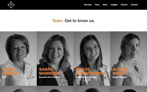 Screenshot of Team Page trekk.com - Team   Trekk - captured Nov. 18, 2018