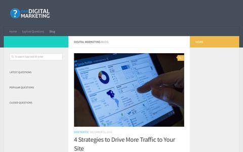 Screenshot of Blog digitalmarketinginterview.com - Blog – Digital Marketing - captured Oct. 16, 2018