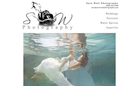 Screenshot of Home Page sarawallphotography.com - Sara Wall Photography :: Wedding & Portrait Photography on Kauai, Hawaii - captured Sept. 30, 2014