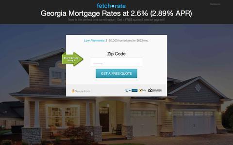 Screenshot of Landing Page fetcharate.com - Georgia Mortgage Rates at 2.6% (2.89% APR) - captured Feb. 23, 2016