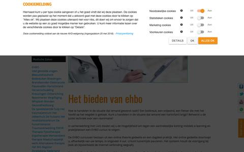 Screenshot of FAQ Page hulpnaongeval.nl captured Sept. 30, 2018