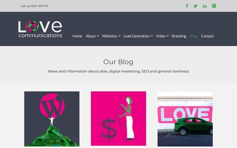 Screenshot of Blog lovecommunications.com.au - Love Posts   Love Communications - captured Sept. 30, 2018