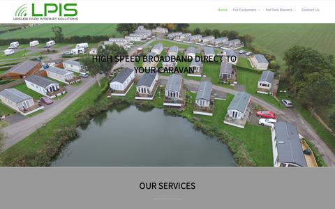 Screenshot of Home Page lpis-uk.com - Leisure Park Internet Solutions – Suppliers of quality WiFi solutions to caravan and holiday parks across the UK - captured Sept. 28, 2018