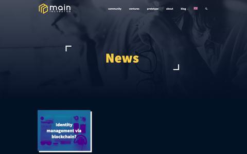 Screenshot of Blog main-incubator.com - blog | main-incubator.com - captured Oct. 2, 2018
