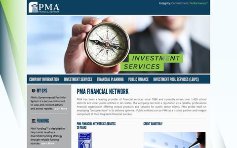 Screenshot of Home Page pmanetwork.com - PMA Financial Network - captured Sept. 27, 2014