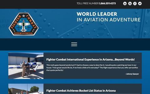 Screenshot of Testimonials Page fightercombat.com - Blog - Fighter Combat InternationalFighter Combat International - captured Oct. 13, 2017