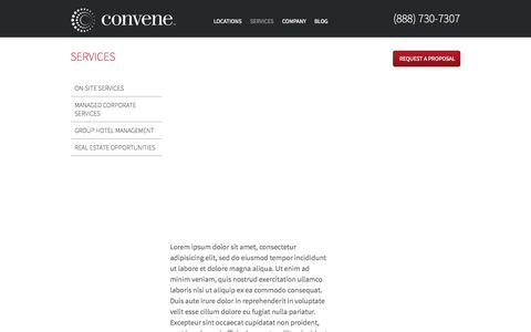 Screenshot of Services Page convene.com - Services | Convene - captured Sept. 13, 2014