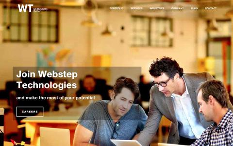 Screenshot of Home Page webstep.in - Webstep Technologies - IT Consulting | Outsourcing | System Integration - captured Nov. 2, 2018