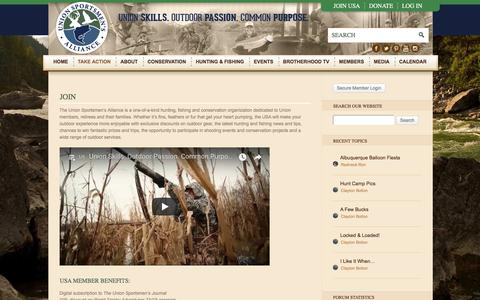 Screenshot of Signup Page unionsportsmen.org - Join - Union Sportsmen's Alliance - captured Oct. 19, 2017