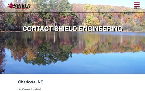 Screenshot of Contact Page shieldengineering.com - Contact Shield Engineering | Engineering Consulting - captured Oct. 20, 2018
