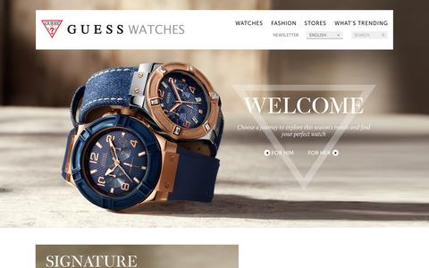 Screenshot of Home Page guesswatches.com - Welcome   GUESS Watches - captured Sept. 18, 2014
