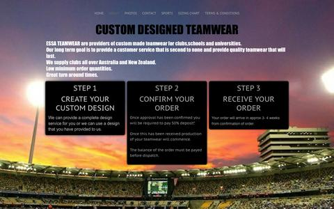 Screenshot of About Page essateamwear.com - ABOUT - essateamwear.com - captured Dec. 6, 2015