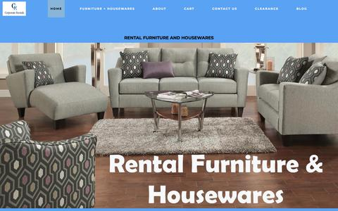Screenshot of Home Page corporaterentals.com - About Us - Corporate Rentals - captured July 22, 2018