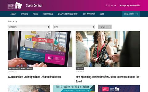 Screenshot of Press Page asid.org - Posts - captured Feb. 25, 2017