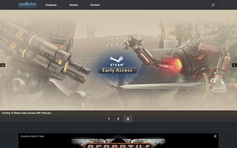 Screenshot of Home Page nodbrim.com - Nodbrim | interactive entertainment on the online space - captured Feb. 15, 2016